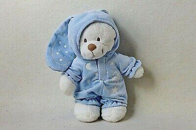 Nicotoy Teddy Bär blau Hasenkostüm ca. 25 cm Stofftier Kuscheltier - Kuschel Bär Kostüm