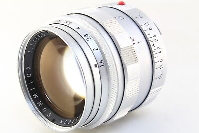(Excellent+) Leica SUMMILUX 50mm F/1.4 Silver For Leica M mount