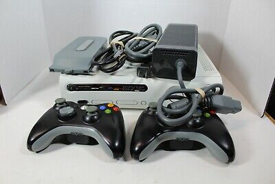 XBOX 360 Console 175w Power Supply 60 GB HDD 2 Controllers HDMI Cable w/ 5 Games for sale  Shipping to India