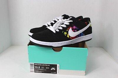 d105bf0b6814 New w Box Nike Mens Size 10.5 SB Dunk Low Ishod Weir Pride LGBT Rainbow  Shoes