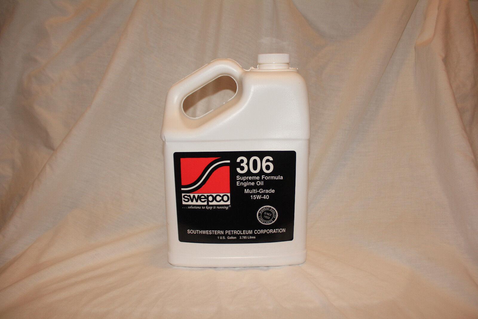 Swepco 306 15w40 Supreme Formula Engine Oil 1 Gallon