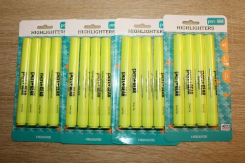 16 Pack Pen+ Gear Highlighters Chisel Tip Home, School, Office