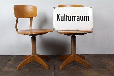 AMA Elastik - Kinderstuhl Holz  Arbeitsstuhl  Drehstuhl  Schulmöbel