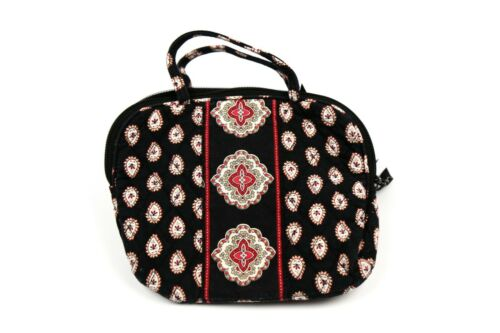 Vera Bradley Cosmetic Bag in Classic Black - Make-up/Jewelry Case with Handle