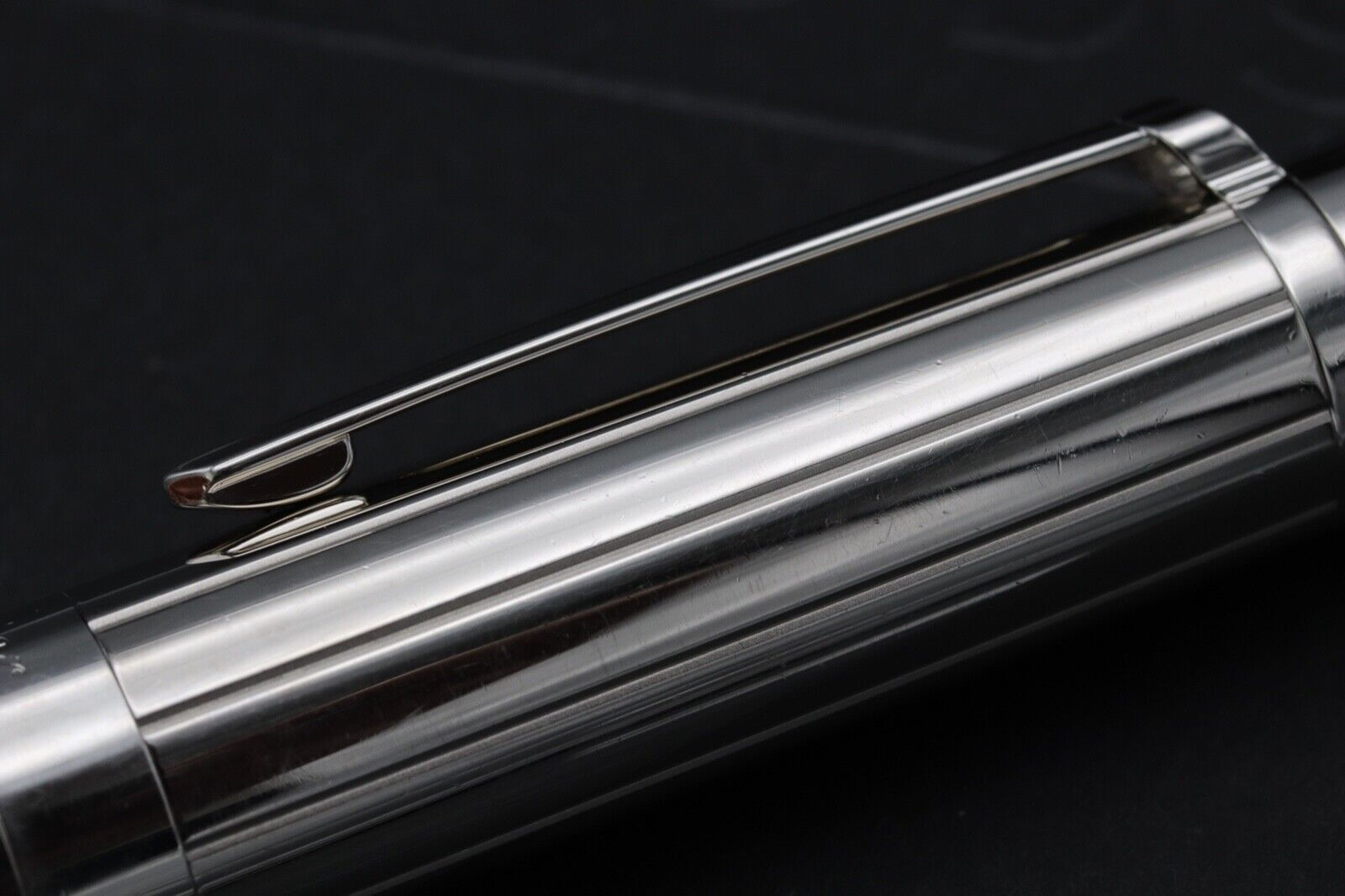 Cartier Pasha de Cartier Striped Silver-Plated Fountain Pen 6
