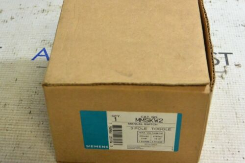 New In Box Siemens MMSKW2 3 Pole Toggle Manual Switch