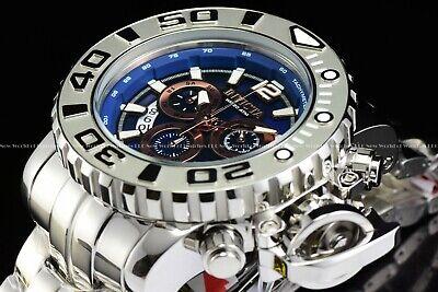 "Invicta 70mm Full Sea Hunter High Polished Blue ""Ice Berg"" Swiss Chrome Watch"