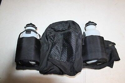 BLACK SHEEP NYLON  FANNY PACK WITH POUCH & WATER BOTTLE HOLDER RUNNING HIKE USED ()