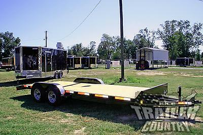 New 2020 7 X 20 10k Rice Flatbed Utility Equipment Carhauler Car Hauler Trailer