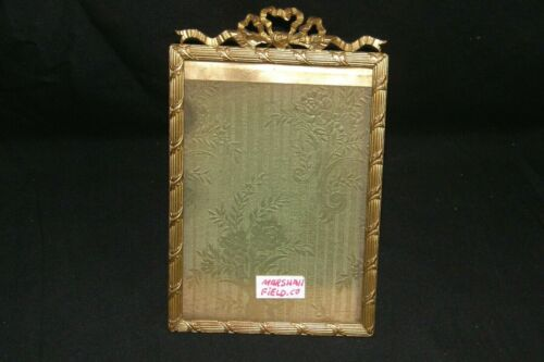 Antique Fancy Ornate Decorative Marshall Fields Chicago Brass Picture Frame