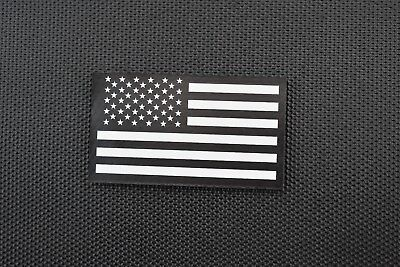 Infrared US Flag Patch Black & White Police SWAT LEO Security VELCRO® Brand  (Security Velcro Patch)