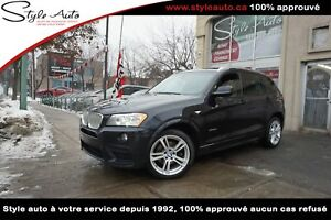 2011 BMW X3 35i 4 portes à traction intégrale M PACKAGE CUIR TOI