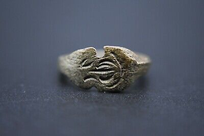 Early Medieval Viking period bronze ring with inscription C. 10th century AD