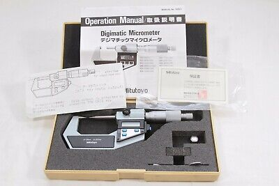 Mitutoyo Digimatic Micrometer 0-25mm Model 342-541 .001 Res. With Case