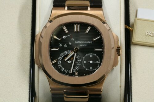 Patek Philippe Nautilus Rose Gold Leather Band Brand New 5712r Box/papers -2019-
