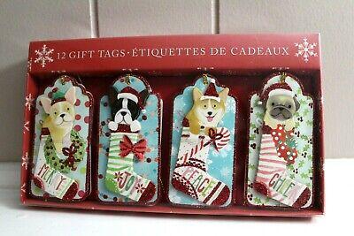Molly & Rex 3D Gift Tags Dog Puppy Frenchie Corgi Bulldog Christmas 12 Tags Dog Gift Tags