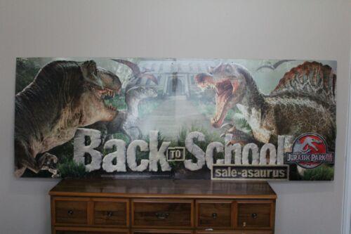 Jurassic Park 3 HUGE 8 FOOT promotional advertising sign SALEASAURUS world promo