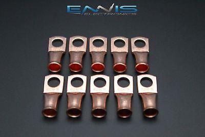2 Gauge Copper 38 Ring 10 Pk Crimp Terminal Connector Awg Ga Car Eye Cur238