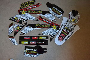 Rockstar team graphics Honda CRF450 CRF450R  2005 2006 2007 2008