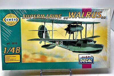 SMER 815 1:48 Supermarine Walrus Model Plane Kit Factory Sealed 1980s NIB