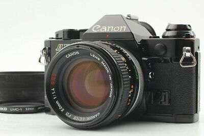 【Exc+5】 Canon AE-1 Program Black Camera w/ FD 50mm F/1.4 S.S.C Lens from Japan