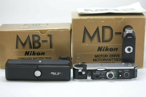 [RARE MINT IN BOX] NIKON MD-2 Motor Drive w/ MB-1 Battery Pack for F2 from JAPAN