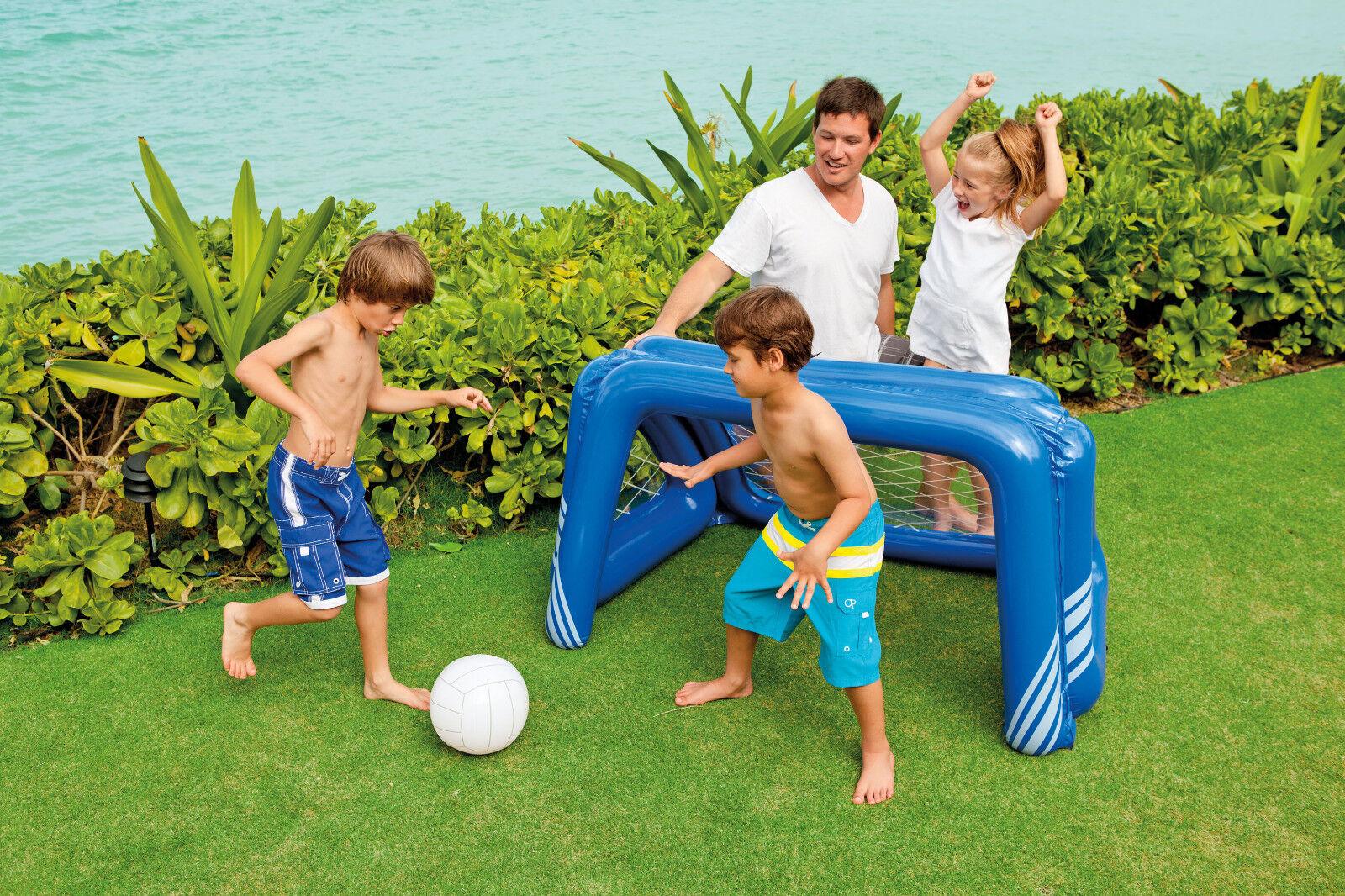Intex Fun Goal Fussballtor aufblasbares Wasserballtor Ball Pool Fussball , (K)