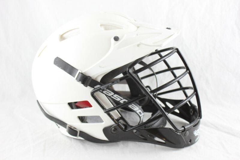 Youth Cascade Sch2 Lacrosse Helmet White Adjustable Size