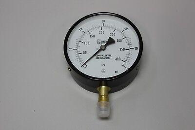 """Pacific Scientific (NKS) 4"""" Pressure Gauge 0-60 PSI 0-400 kPa"""