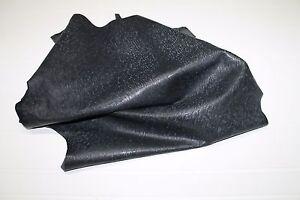 Italian thick Goatskin leather skins VINTAGE DARK GREY DISTRESSED 5sqf #A931