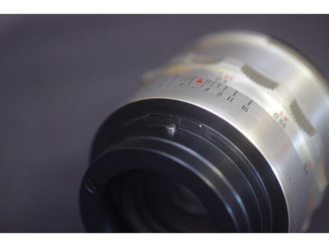 Praktina FX Lens onto  Sony E (A7, FS100)  mount adapter with close focus adjus