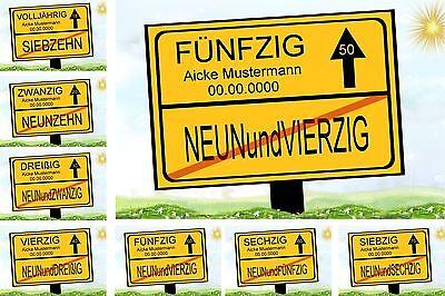 30 40 50 60 70 Geburtstag Geschenk Verkehrsschild Deko-Idee (70 Deko-ideen)