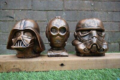 Star Wars Darth Vader,Stormtrooper & C3-P0 Stone Garden Ornaments -Free UK P&P