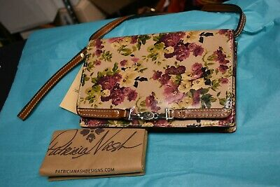PATRICIA NASH ANTIQUE ROSE COLLECTION APRICALE FLORAL PRINT CROSSBODY BAG NWT Floral Collection Rose