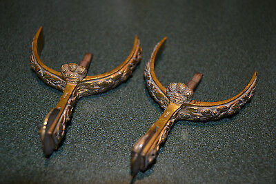 ANTIQUE ENGLISH VICTORIAN PALL MALL GILT BRONZE HORSE RIDING SPURS IMPERIAL (Imperial Mall)