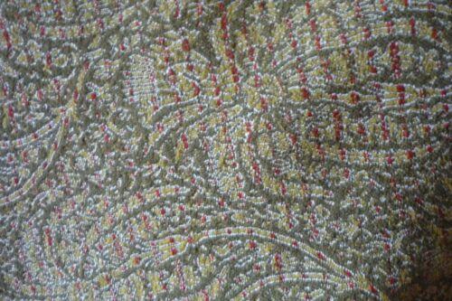 Antique Paisley shawl Wool Textile throw   62 x 65 w/ fringe