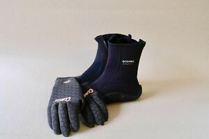 Sold Cressi dive gloves XS - Oceanic Dive Boots US-7 EX Con