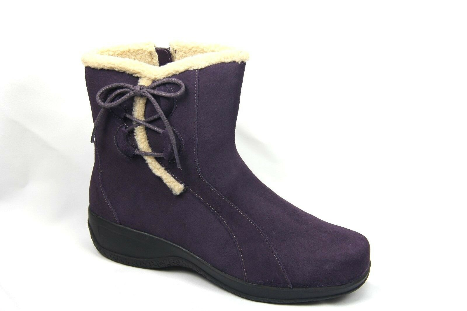 Clarks Angie Madi Women's Bendables Winter Boot Purple Suede Style # 35612