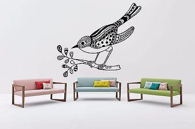 Wall Room Decor Art Vinyl Sticker Mural Decal Zentangle Bird Relaxation FI1060