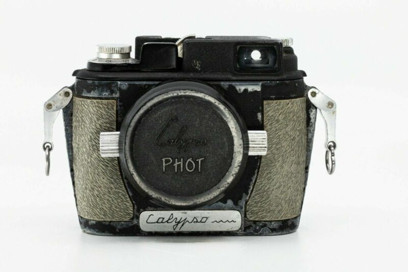 French Calypso Under Water Camera with 35mm f3.5 Som berthiot - READ RARE (c1)