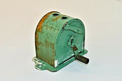 Vintage Turquoise Green Hand Crank Pencil Sharpener - Not Working - For Display