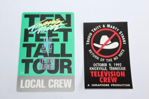 Travis Tritt  - 2 x Backstage Pass - Lot # 1 -  FREE POSTAGE -