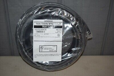 Honeywell Genesis 144 Thhn Mini Split Tray Cable 50 Foot Black 10703908