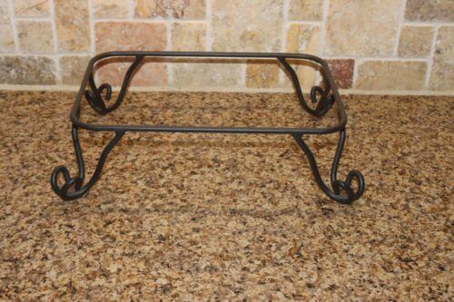 Longaberger Foundry Wrought Iron Rectangle Pedestal Stand 4 Casserole Dish 77526
