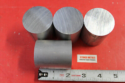 4 Pieces 1-34 Aluminum Round Rod Bar 2 Long Solid 6061 T6511 New Lathe Stock