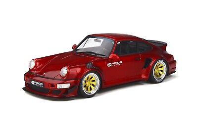 1/18 GT Spirit Porsche 911 Prior Design Custom Wide Body 964 Red GT277 in Stock