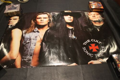 """Cult Sonic Temple Poster 23"""" x 35"""" In Shrink EX - Shrink Box #16"""