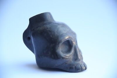 1st Nations Music Aztec Death Whistle black clay produces most frightening sound