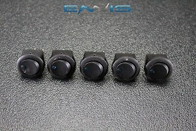 5 Pcs Round On Off Rocker Switch Mini Toggle Blue Led 34 Mount Hole Ec-1103abl