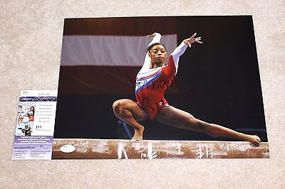 Simone Biles Signed 11X14 Photo Jsa Coa 2016 Rio Olympics Gold Medal Gymnast 1B